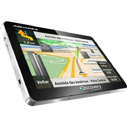 "GPS AUTOMOTIVO AQUARIUS DISCOVERY CHANNEL 4.3"" SLIM TOUCH SCREEN - 22863"