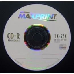 CD-R MAXPRINT PRINTABLE 700MB/80MIN 52X - 22648