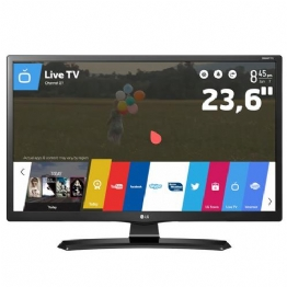"TV Monitor Smart LED 23,6"" HD LG 24MT49S-PS com Wi-Fi, WebOS, Conversor Digital Integrado, Screen Share, Cinema Mode, HDMI e USB - 24548"